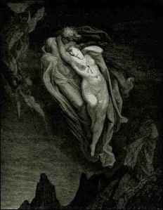 Paola and Francesca by Gustav Dore